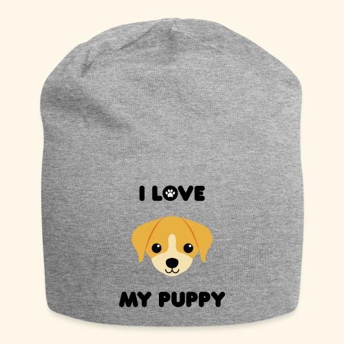 Love my puppy - Bonnet en jersey