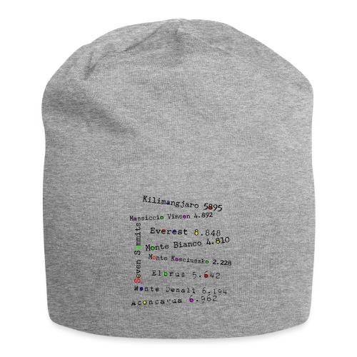 The Seven Summits - Beanie in jersey