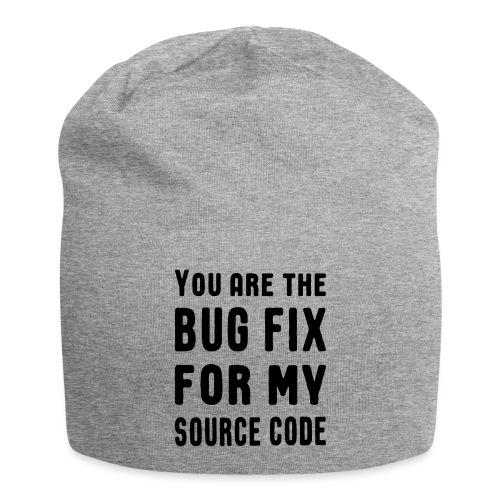 Programmierer Beziehung Liebe Source Code Spruch - Jersey-Beanie