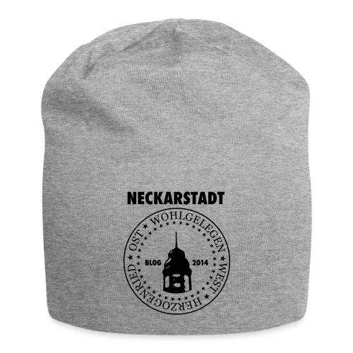 Neckarstadt Blog seit 2014 (Logo dunkel) - Jersey-Beanie