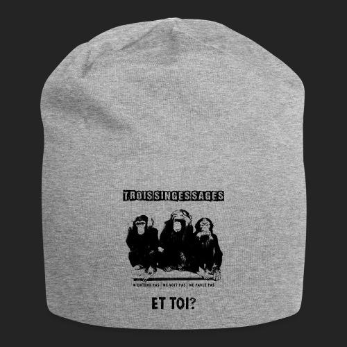 Three wise monkeys - Bonnet en jersey