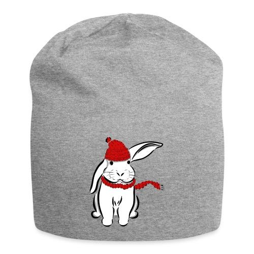 Kaninchen Hase Mütze Schal Schlappohr Schneehase - Jersey-Beanie