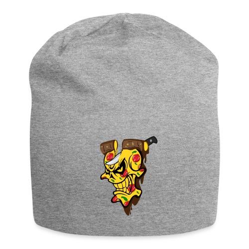 Pizza Schädel mit Messer - Jersey-Beanie