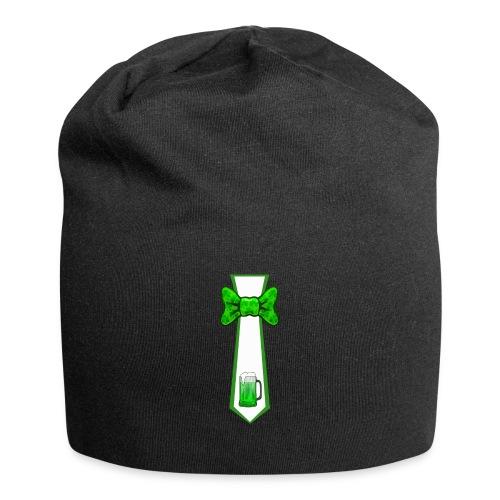 St Patricks Day Necktie and Bowtie Green Beer Mug - Jersey Beanie