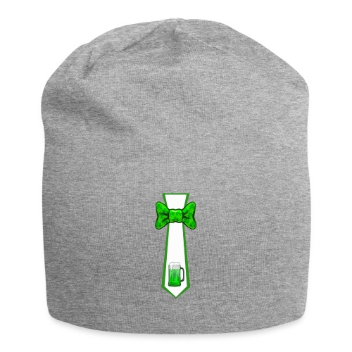 St Patricks Day Necktie and Bowtie Green Beer Mug - Jersey Beanie