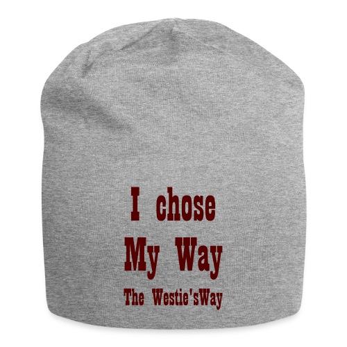 I chose My Way Brown - Czapka krasnal z dżerseju