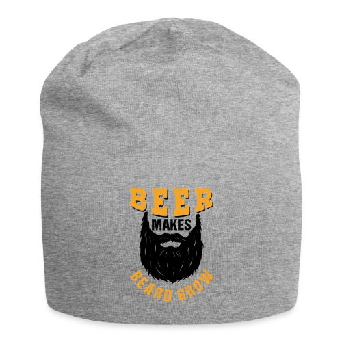 Beer Makes Beard Grow Funny Gift - Jersey-Beanie