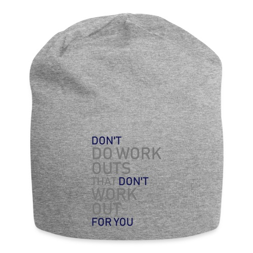 Don't do workouts - Jersey Beanie
