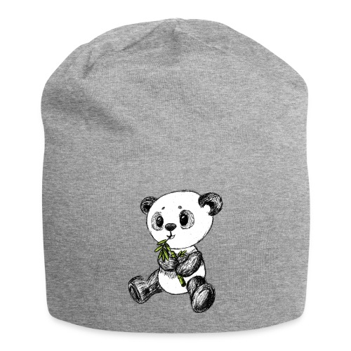 Panda bjørn farvet scribblesirii - Jersey-Beanie