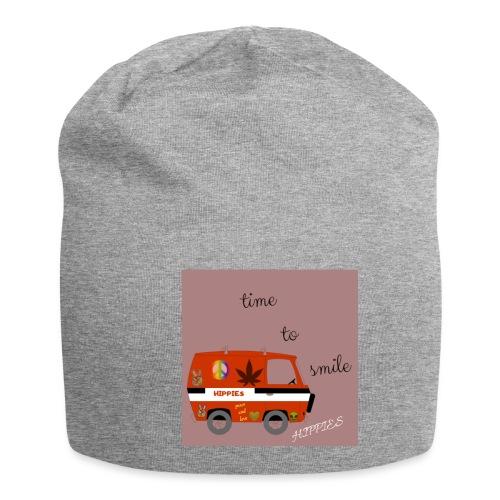 peace and love - Gorro holgado de tela de jersey