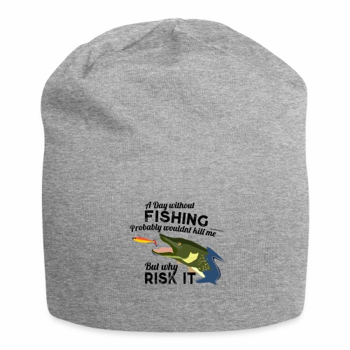A Day without Fishing Hecht Pike Fishyworm Angel - Jersey-Beanie