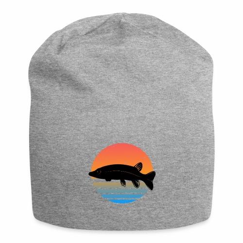 Retro Hecht Angeln Fisch Wurm Angler Raubfisch - Jersey-Beanie