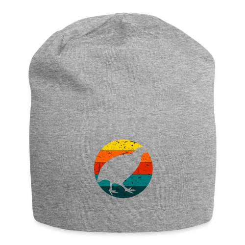 Retro Wachtel Geschenkidee Design Wachteln Logo - Jersey-Beanie