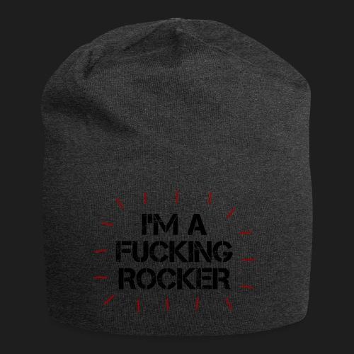 I'M A FUCKING ROCKER - Beanie in jersey