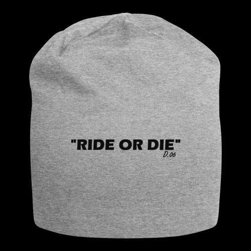 Ride or die (noir) - Bonnet en jersey