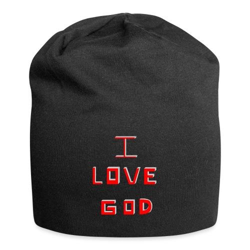 I LOVE GOD - Gorro holgado de tela de jersey