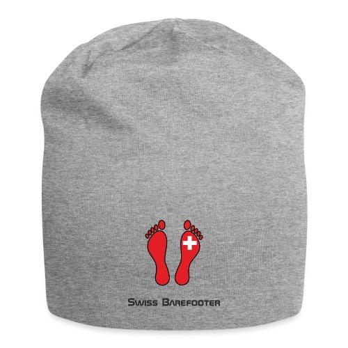 Swiss Barefooter Logo mit Schrift Space - Jersey-Beanie