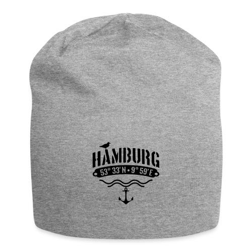 Hamburg Koordinaten Anker Möwe Längengrad - Jersey-Beanie