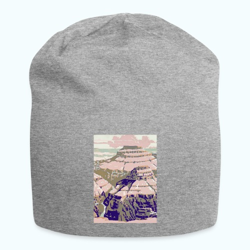 Rocky Mountains Vintage Travel Poster - Jersey Beanie