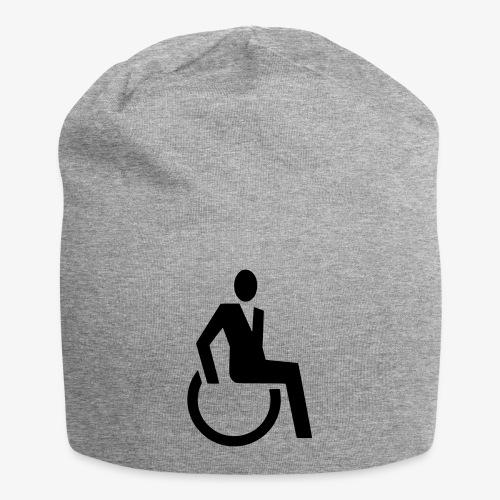 Sjieke rolstoel gebruiker symbool - Jersey-Beanie