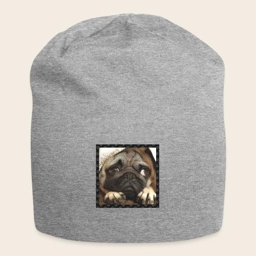 Mops Hund 1 - Jersey-Beanie