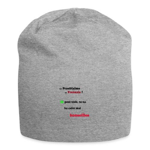Probleme en français - Bonnet en jersey