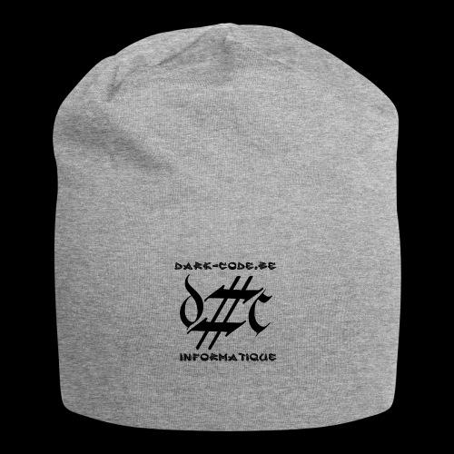 Dark-Code Black Gothic Logo - Bonnet en jersey