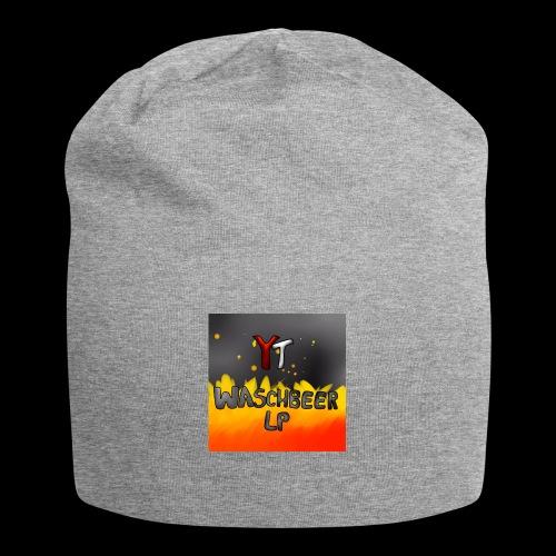 Waschbeer Design 2# Mit Flammen - Jersey-Beanie