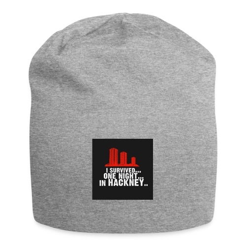 i survived one night in hackney badge - Jersey Beanie