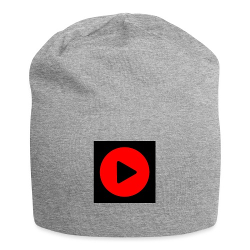 LOGO PLAY NEGRO - Gorro holgado de tela de jersey