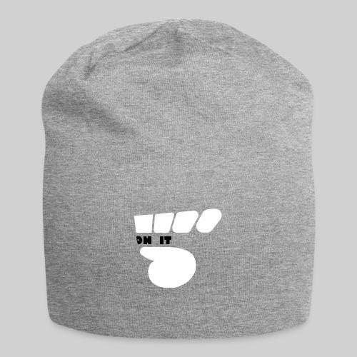 Logo 5 on It blanc / noir - Bonnet en jersey