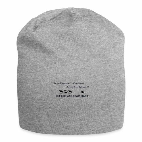 train hard - Bonnet en jersey