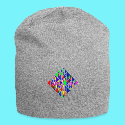 A square school of triangular coloured fish - Jersey Beanie