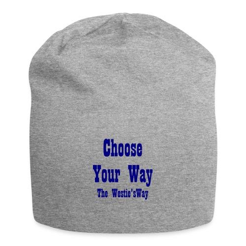 Choose Your Way Navy - Czapka krasnal z dżerseju