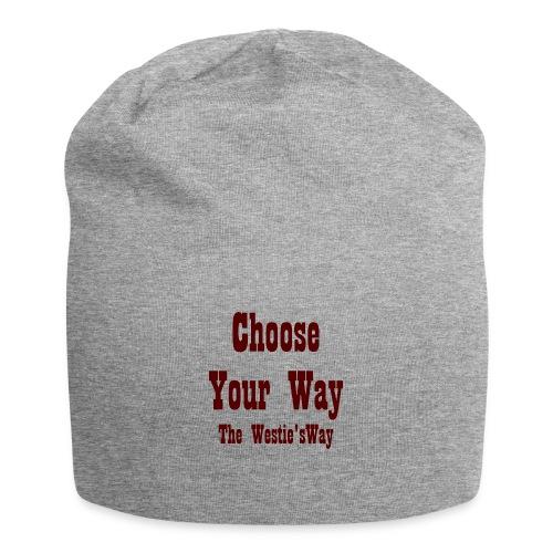 Choose Your Way Brown - Czapka krasnal z dżerseju