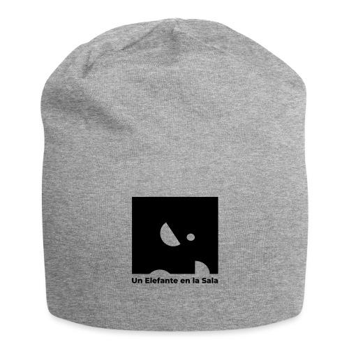 Logo Elefante Negro - Gorro holgado de tela de jersey