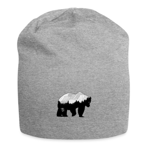 Geometric Mountain Bear - Beanie in jersey