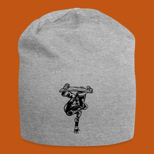 Skater / Skateboarder 03_schwarz - Jersey-Beanie