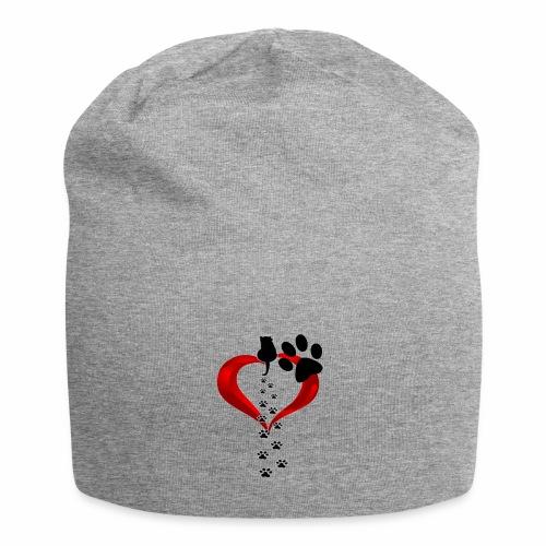 Pawcat heart - Beanie in jersey