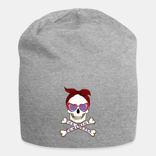 Feminist skull - Gorro holgado de tela de jersey