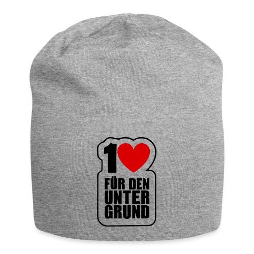 1 Herz für den Untergrund - Original Logo - Jersey-Beanie