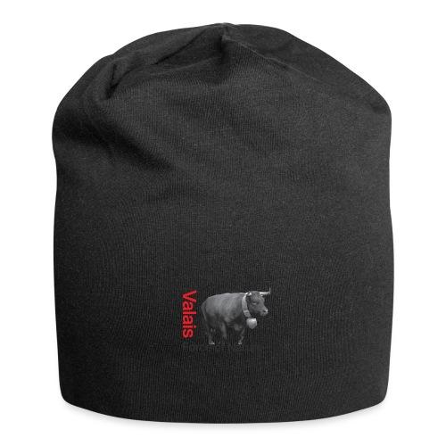 Naturgewalt - Kuh von Hérens Wallis - Jersey-Beanie
