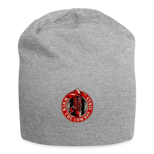 Logo when the cowboy sings - Gorro holgado de tela de jersey