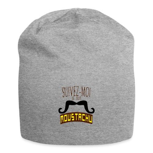 citation moustache suivez moi moustachu - Bonnet en jersey
