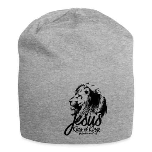 LION - JESUS KING OF KINGS // Black - Jersey Beanie