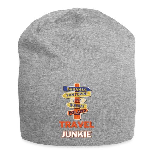 traveljunkie - i like to travel - Jersey-Beanie