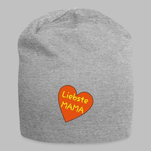 Liebste Mama - Auf Herz ♥ - Jersey-Beanie