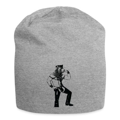 Grrr leather bear - Bonnet en jersey