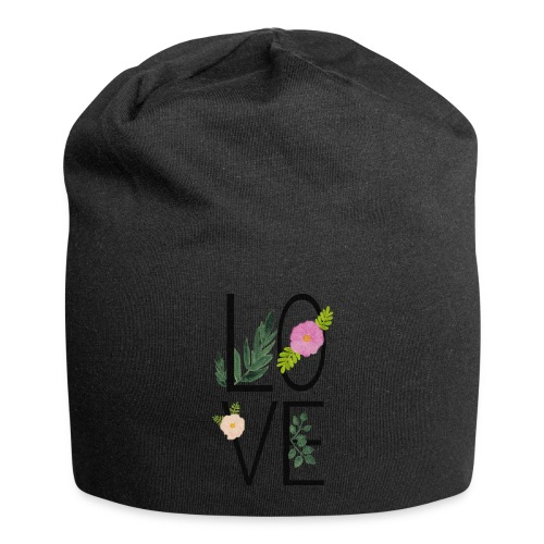 Love Sign with flowers - Jersey Beanie