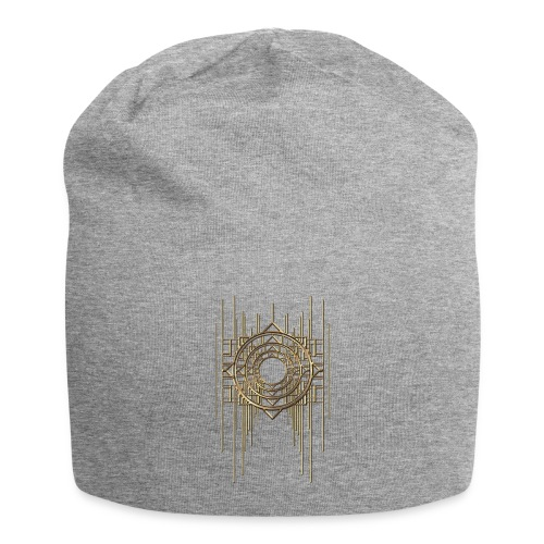 Abstract & Geometric - Gold Metal - Jersey Beanie